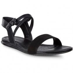 Sandale casual femei ECCO Touch catarama (Negru)