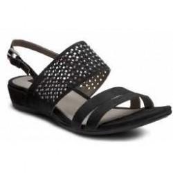 Sandale elegante dama ECCO Touch 25 S din piele intoarsa (Negre)