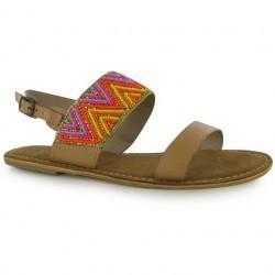 Sandale sic, de culoare maro, cu margelute multicolore-Firetrap
