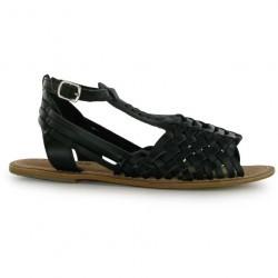 Sandale moderne, din piele naturala, de culoare neagra-Firetrap