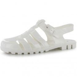 Sandale moderne, din cauciuc, de culoare alba-Miso