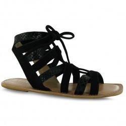 Sandale trendy, de culoare neagra, cu siret-Firetrap