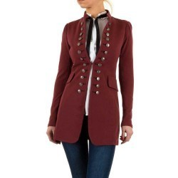 Sacou dama casual, bordo, inspirat de stilul militaresc