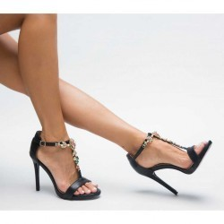 Sandale cu toc Anatolia Negre